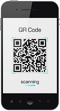 QR Code on Phone